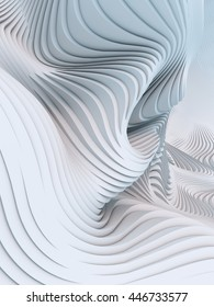 Abstract 3d rendering wave stripes background
