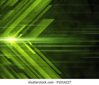 Abstract 3d technology lines with light background raster version