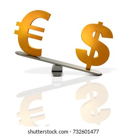 Abstract 3DCG illustration of exchange rate. 3D illustration