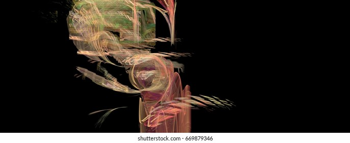 Abstract acrylic background art in illustration space geometry. Background consists of fractal multicolor texture and is suitable for use in projects on imagination, creativity and design.