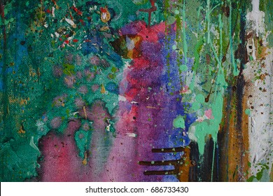 Abstract acrylic hand art backgrounds. Hand-painted background.