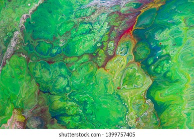 abstract acrylic pattern texture look like marble background , green tone