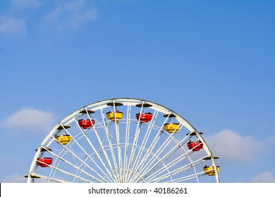 Abstract Angle of Ferris Wheel