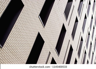 Abstract angled office building windows background