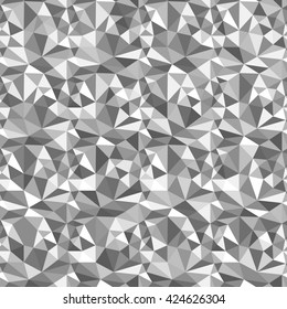 Abstract Angular Background. Black and White Triangular Elements for Your Design. Raster illustration