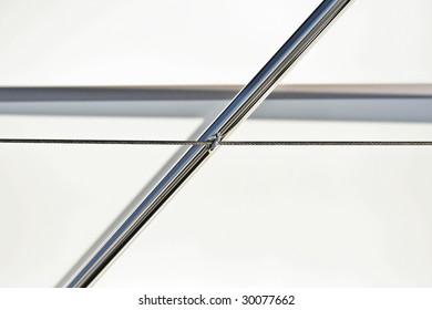 Abstract Angular Chrome Pole