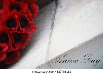 Abstract Anzac Day Remembrance Day Poppy Scene