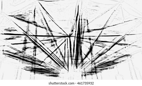 Abstract architectural background. Linear background.
