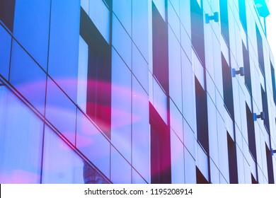 Abstract architectural composition with perspective