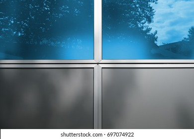 Abstract architectural detail blue and grey