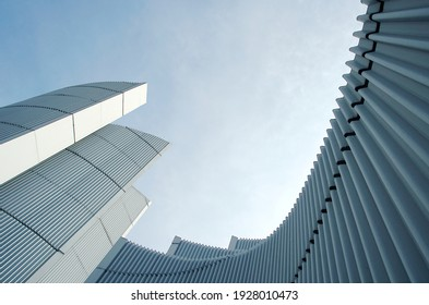 Abstract Architectural Detail Of A monument building, lines and curves.