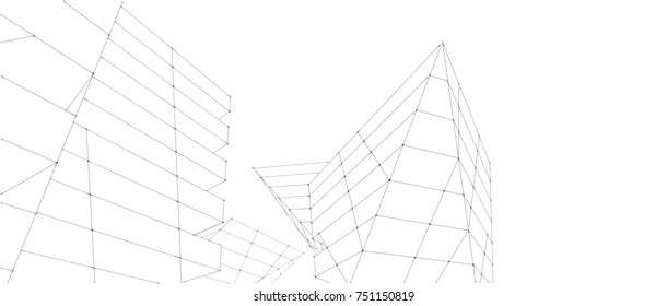 abstract architecture 3d illustration