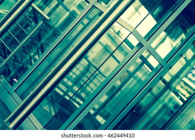 abstract architecture background. glass and metal
