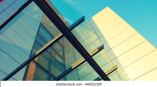 Abstract architecture background. Toned image