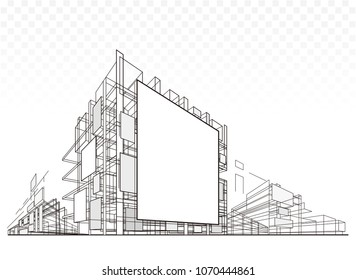 Abstract Architecture Billboard Building