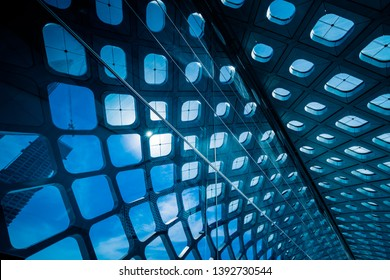 abstract architecture, blue toned image