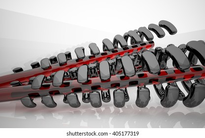 Abstract Architecture. Concept of organic architecture.3D illustration. 3D rendering