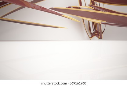 Abstract Architecture. Concept of organic architecture.3D illustration and rendering