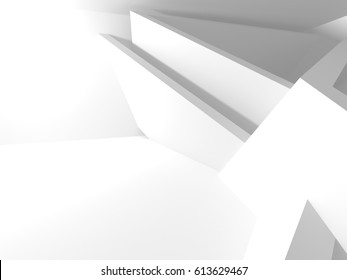 Abstract Architecture Modern Design Background. 3d Render illustration