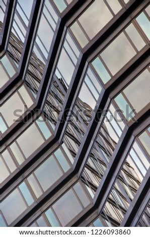 Glulam Abstraction >> Abstract Architecture Photo Reflection Light On Stock Photo Edit