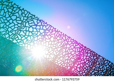 Abstract Architecture, Sunlight across a Building Roof