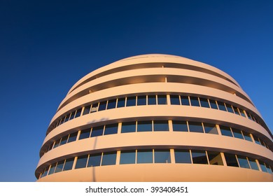Abstract architecture in sunny day