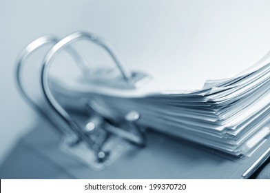 Abstract archive concept with ring binder