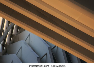 abstract arquitecture picture with sunset light