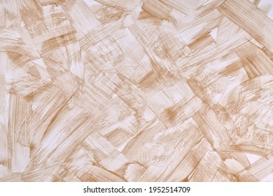 Abstract art background light brown and white colors. Watercolor painting on canvas with strokes and splash. Acrylic artwork on paper with beige spotted pattern. Texture backdrop.