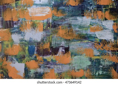 Abstract art background. Oil painting on canvas.