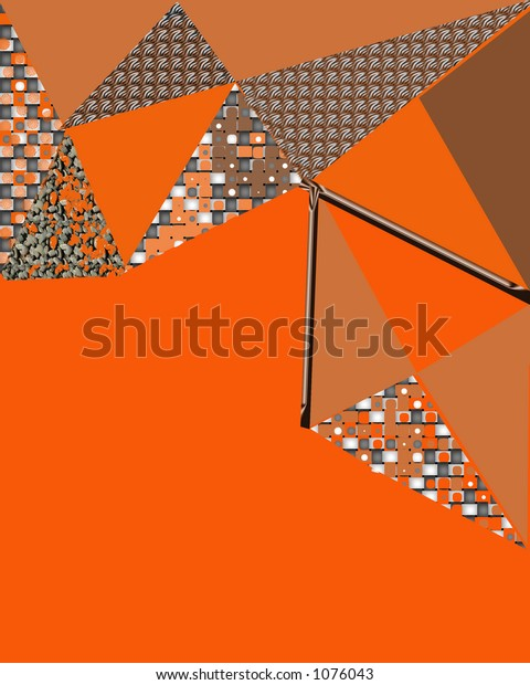 Abstract art Cascade of triangles