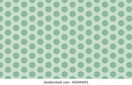 Abstract art classic luxury and elegant style pattern background in popular modern design trend 2016 for printing on card paper fabric poster carpet and book cover, Raster type in green tone