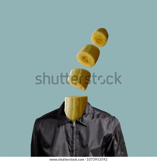 Abstract Art Collage Sliced Banana On Stock Photo Edit Now