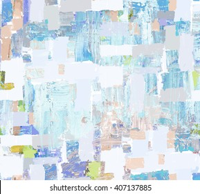 Abstract art colorful background. Seamless pattern with oil texture.