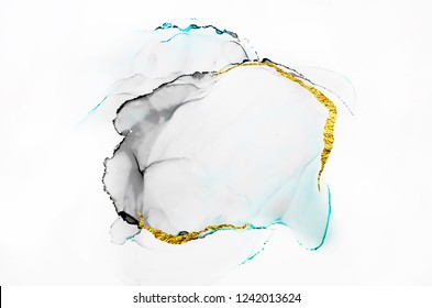Abstract art. Modern artwork. Natural pattern. Ink colors are amazingly bright, luminous, translucent, free-flowing, and dry quickly. Transparent creativity. Painting.