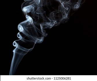 Abstract art with smoke isolated on black background