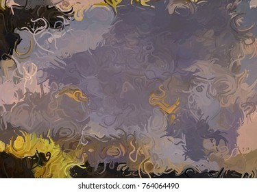 Abstract art texture. Colorful texture. Modern artwork. Strokes of fat paint. Fat lines.Digital brushstrokes. Modern art. Contemporary art.