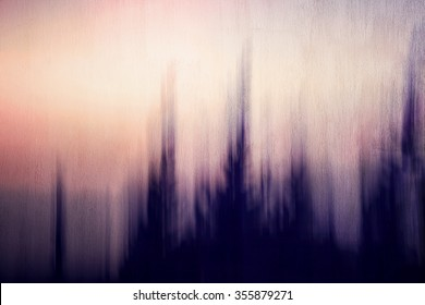 Abstract artistic background, creative cinematic photo of dark forest over sunset, mysterious scary picture