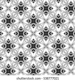 Abstract artistic seamless black and white pattern for design, textile and background