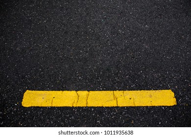 abstract Asphalt road surface with yellow line. texture for add text message or design art work. Concept logistic.