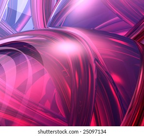 Abstract Background - 3d effect, arches and orbs collage in red hues
