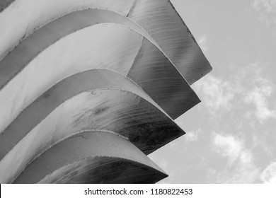 Abstract background architecture lines. modern architecture detail