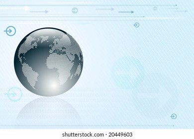 Abstract background with arrows and globe