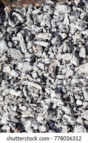 Abstract background of ashes and burnt coal for barbecue