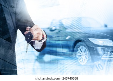 Abstract background. Auto dealership concept
