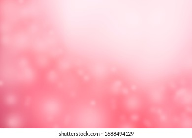 The abstract background, the beautiful pink colored bokeh background Suitable for making a background image. Graphic design