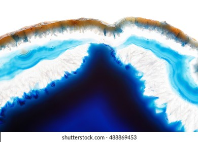 Abstract background - blue agate slice mineral