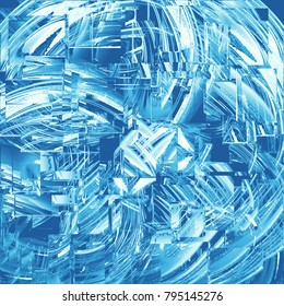 abstract background of blue glass squares
