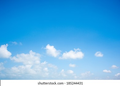 abstract background from the blue sky with white clouds