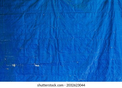 abstract background of a blue tarpaulin